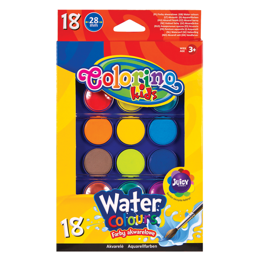 Water colours big tablets 18 colours