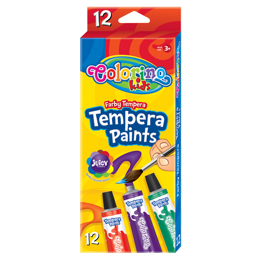 Tempera paints in tubes 12 ml 12 colours