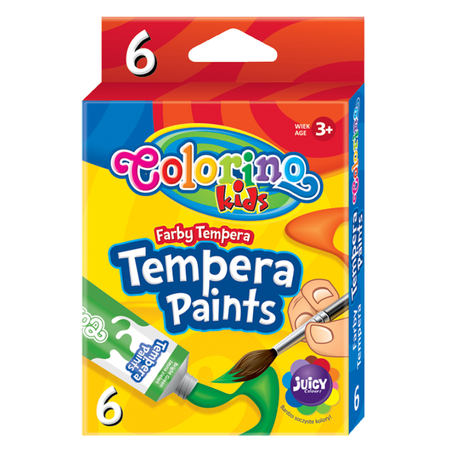 Tempera paints in tubes 12 ml 6 colours