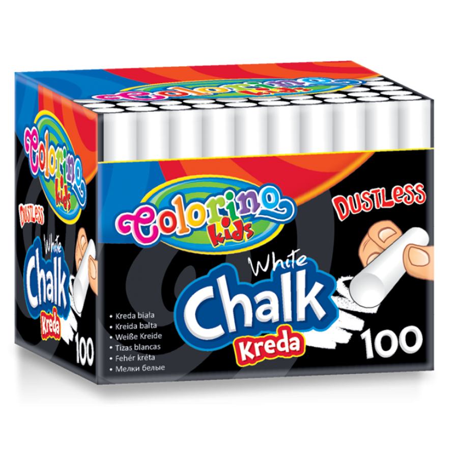 Dustless white chalk 100 pcs.