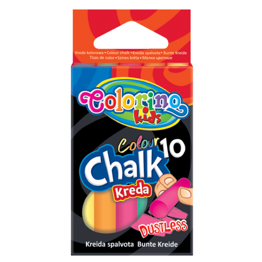 Dustless coloured chalk 10 pcs.