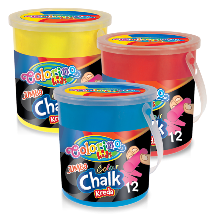 JUMBO coloured chalk 12 pcs.
