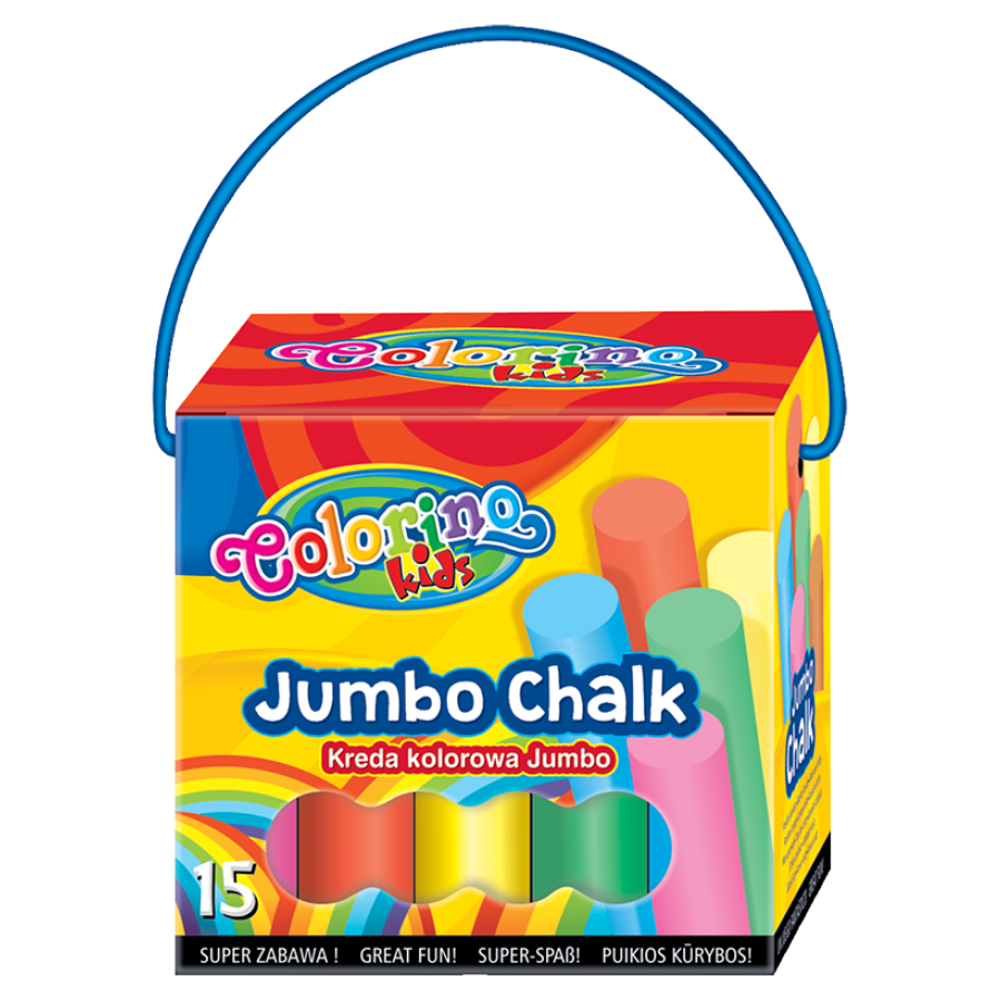JUMBO coloured chalk 15 pcs.