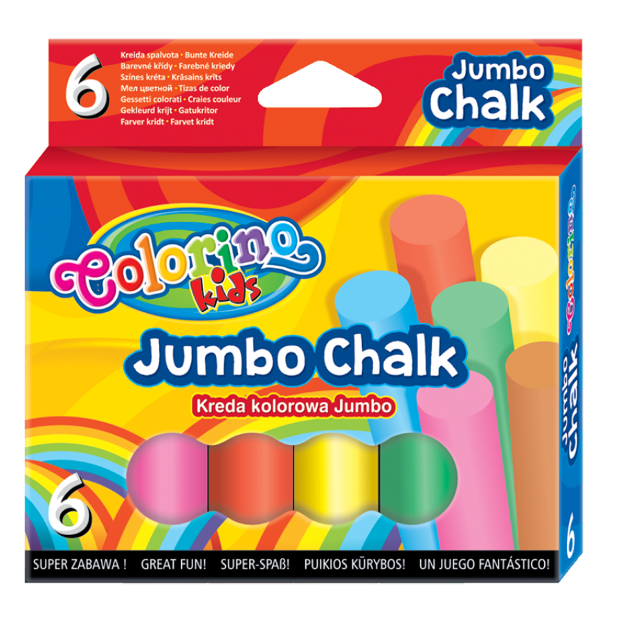 JUMBO coloured chalk 6 pcs.