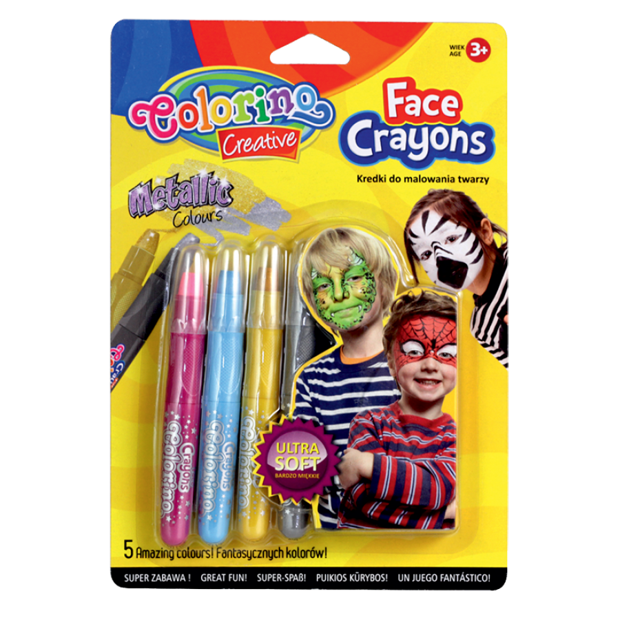 Face crayons metallic colours 5 pcs.
