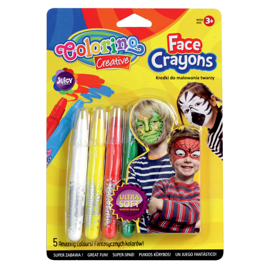 Face crayons basic colours 5 pcs.