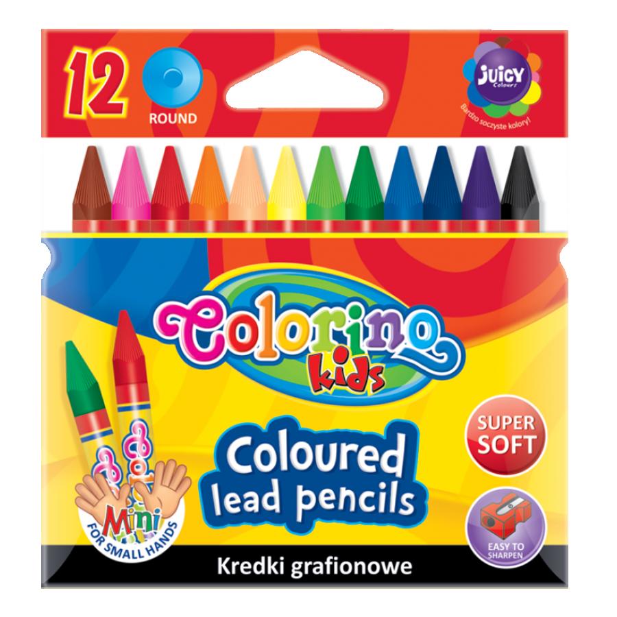 Coloured lead pencils 12 pcs.