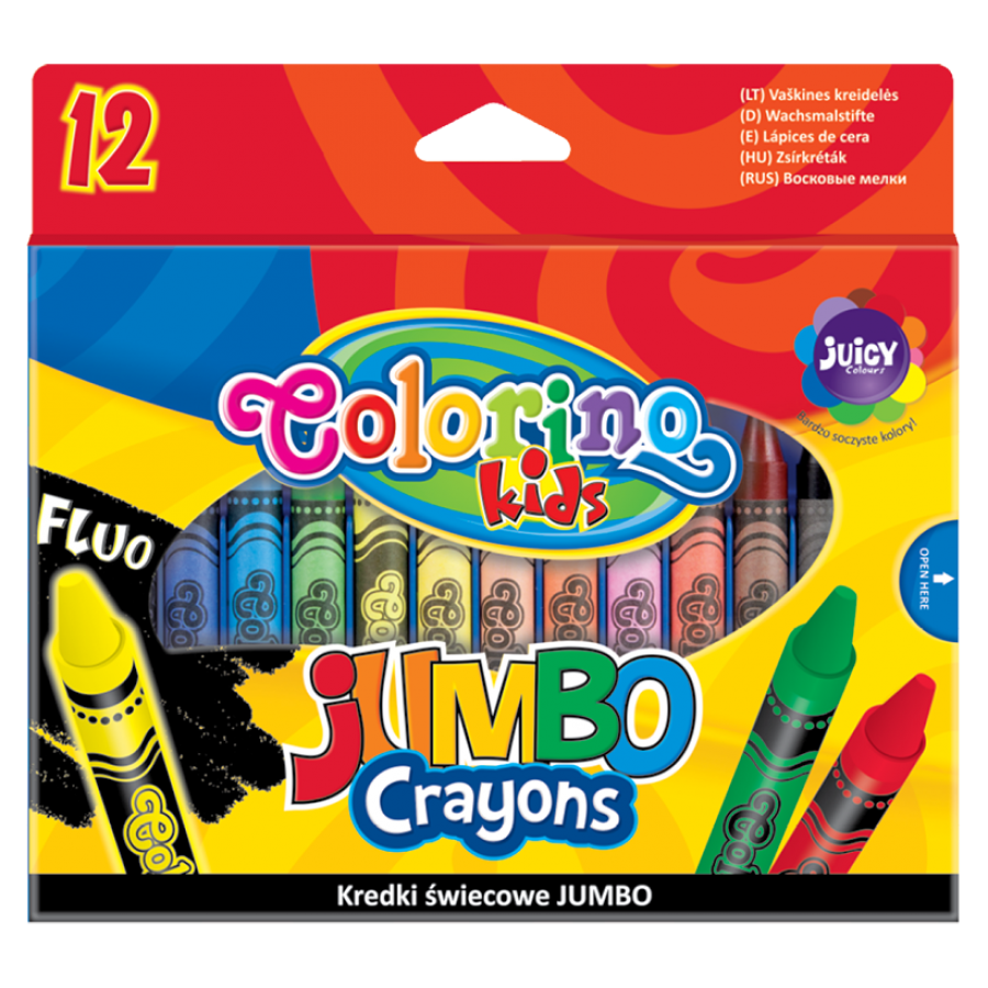 JUMBO Crayons 12 colours