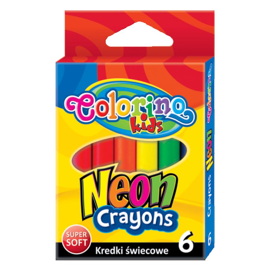 Neon JUMBO crayons 6 colours