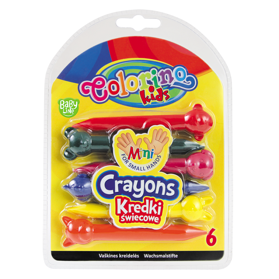 Animal shaped crayons 6 colours