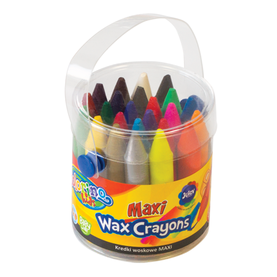 Maxi wax crayons 24 colours