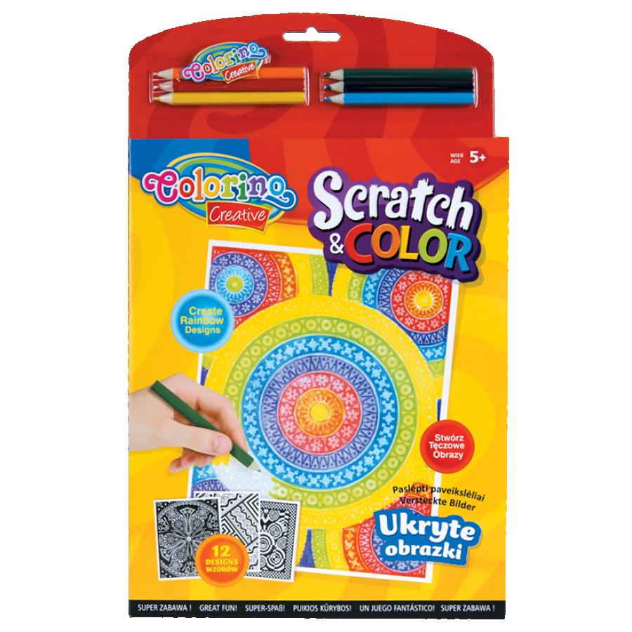 Scratch&color book