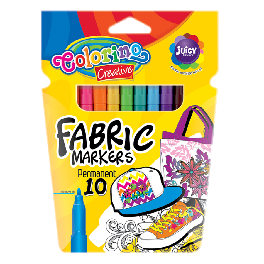 Neon fabric markers 10 colours