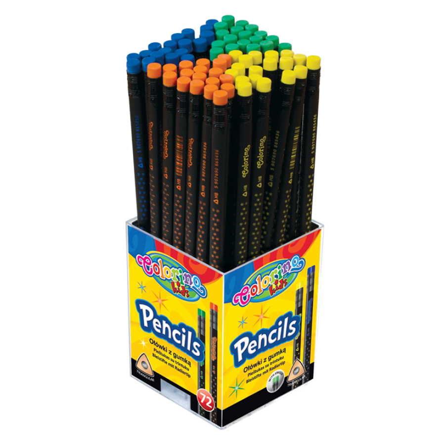 Star Pencils with eraser