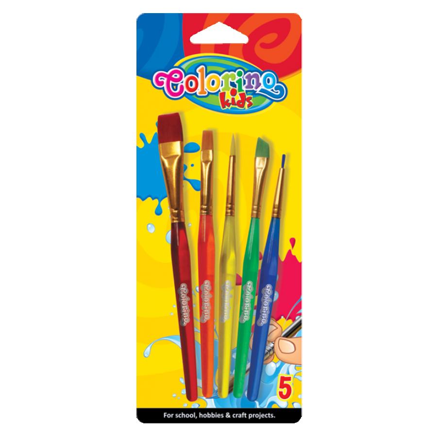 Acrylic paint brushes 5 szt.