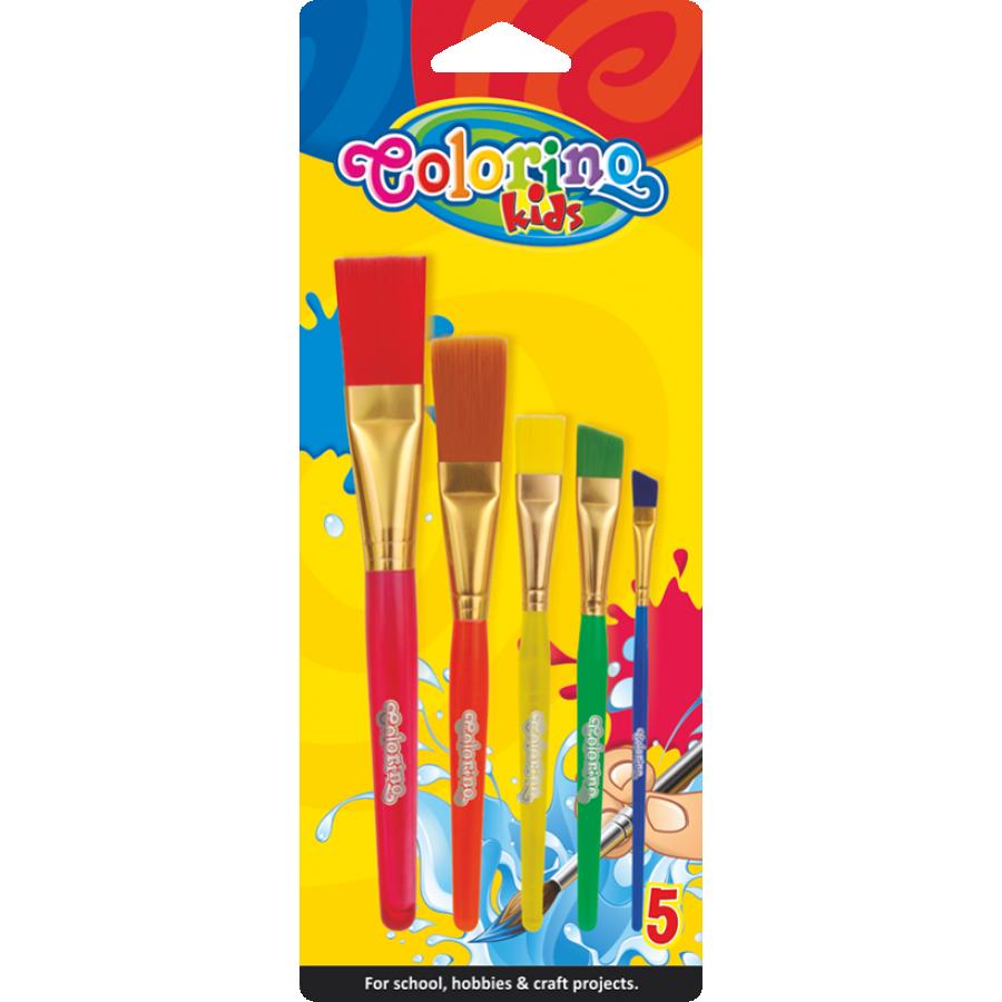 Jumbo acrylic paint brushes 5 szt.