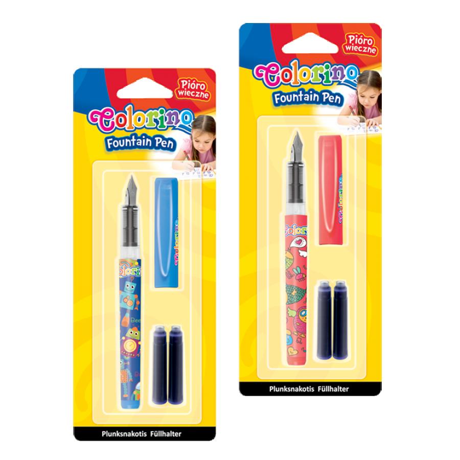 Fountain pen+2 cartridges on blister card