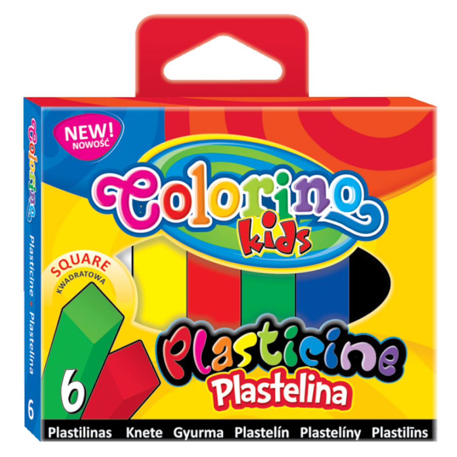 Plasticine square 6 colours