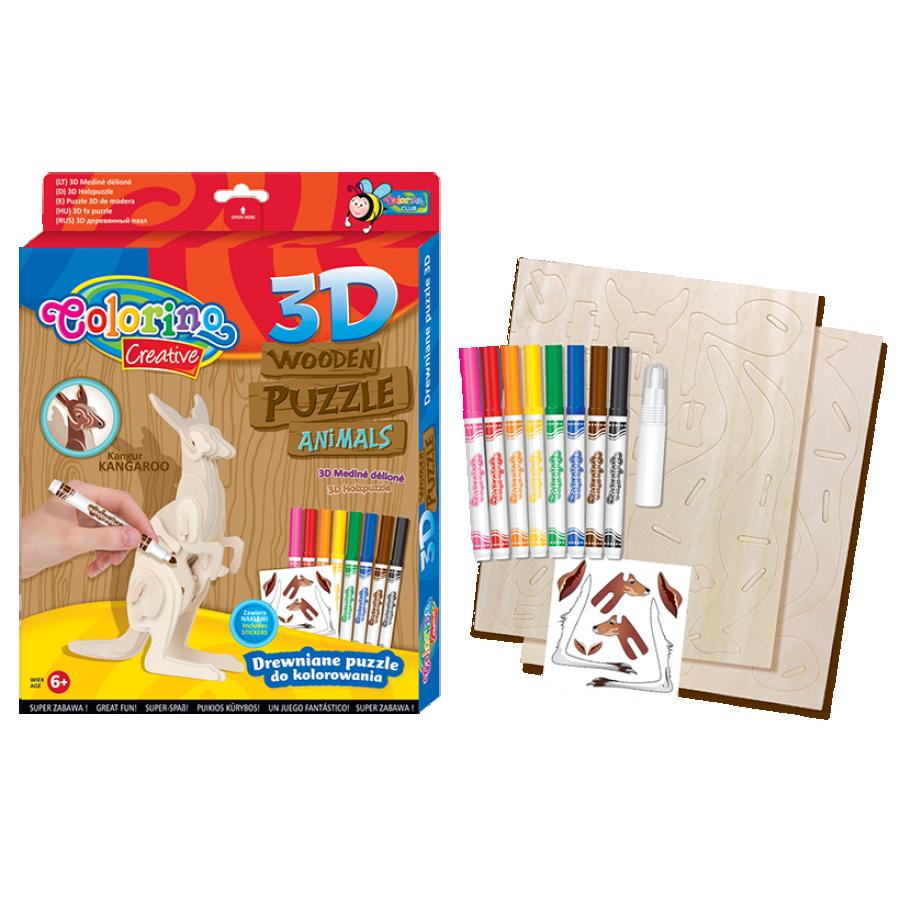 3D Wooden puzzle MIX designs