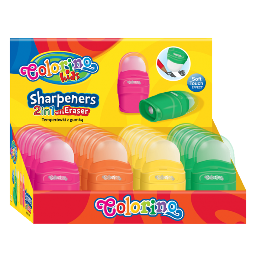Sharpener with eraser 2in1