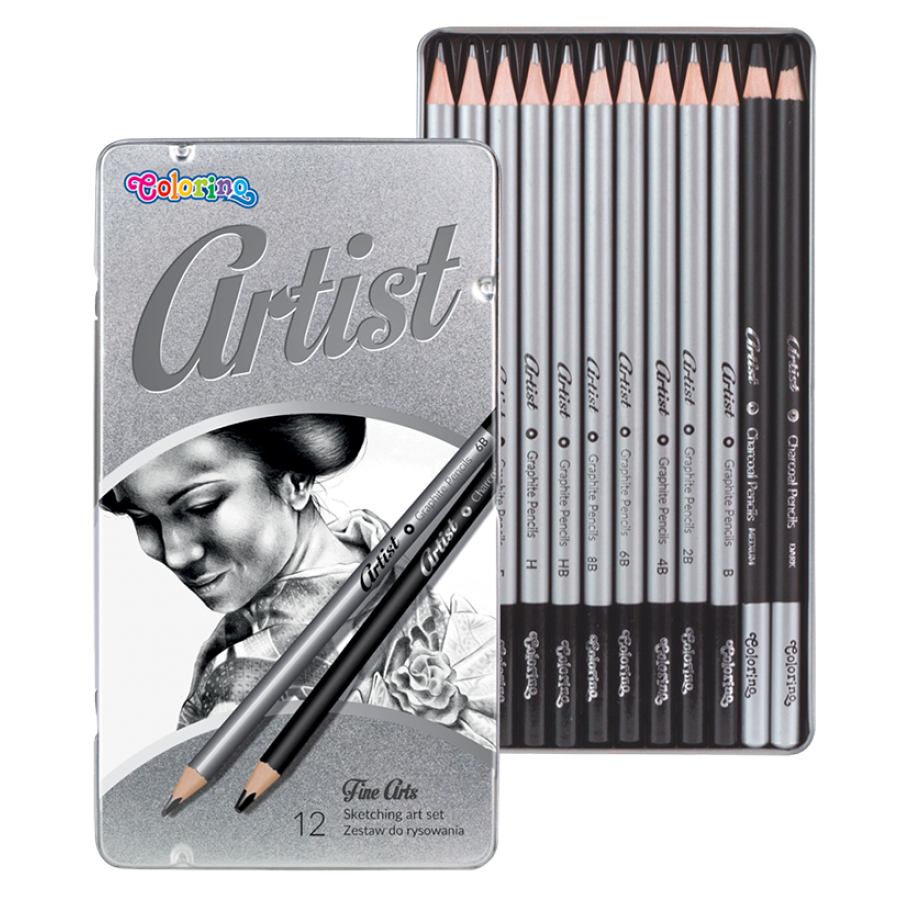 Artist Sketching art set 12 pcs.